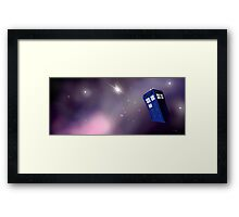 Time and Relative Dimension on Space Framed Print