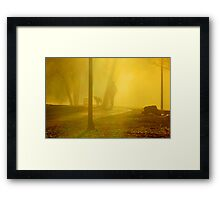 Shadow person Framed Print