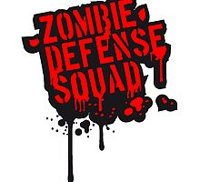 Zombie Defense Squad Blood Graffiti by Style-O-Mat