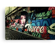 Once Bitter Twice Shy Canvas Print