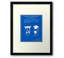Bimbo Patent - Blueprint Framed Print