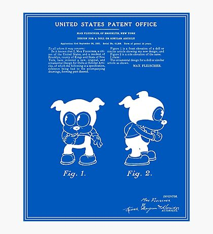 Bimbo Patent - Blueprint Photographic Print