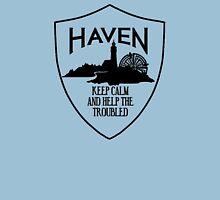 Haven Keep Calm Black Logo Badge Unisex T-Shirt