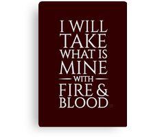 Fire & Blood Canvas Print