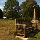 Bench and Cross by kalaryder