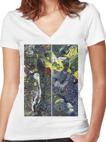 Spatial Insanity Remixed Women's Fitted V-Neck T-Shirt