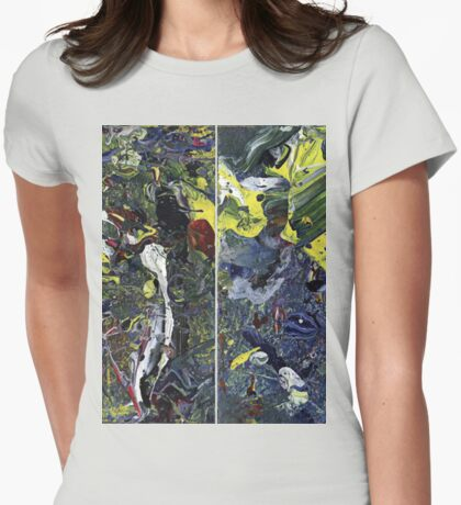 Spatial Insanity Remixed Womens Fitted T-Shirt