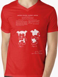 Bimbo Patent - Black Mens V-Neck T-Shirt