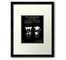 Bimbo Patent - Black Framed Print