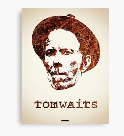 Icons - Tom Waits Canvas Print