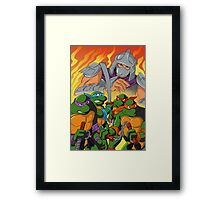 TMNT HEROES IN THE HALF SHELL Framed Print