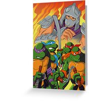 TMNT HEROES IN THE HALF SHELL Greeting Card