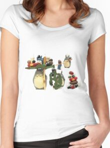 more ghibli Women's Fitted Scoop T-Shirt
