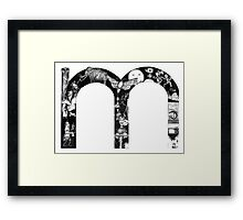 The letter 'm' Framed Print