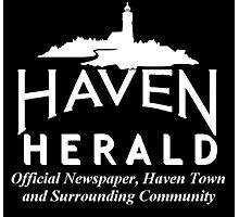 Haven Herald News White Logo Photographic Print