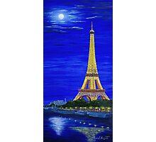 Paris by Moonlight Photographic Print