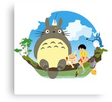 1totoro confused Canvas Print