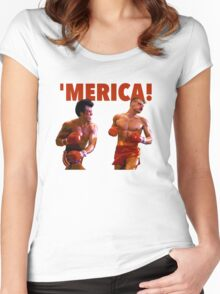 ROCKY - 'MERICA Women's Fitted Scoop T-Shirt
