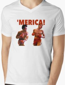 ROCKY - 'MERICA Mens V-Neck T-Shirt