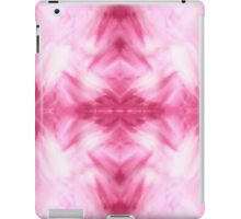 Hand-Painted Abstract Watercolor in Dark Pink and White iPad Case/Skin