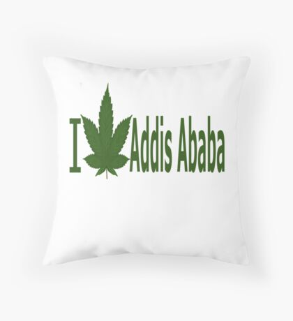 I Love Addis Ababa Throw Pillow