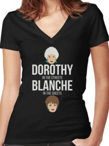 Dorothy in The Streets Blanche in The Sheets TShirt Women's Fitted V-Neck T-Shirt