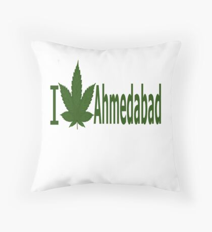 I Love Ahmedabad Throw Pillow