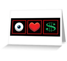 I Heart Money Greeting Card