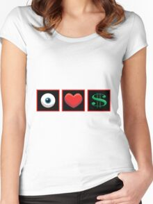 I Heart Money Women's Fitted Scoop T-Shirt