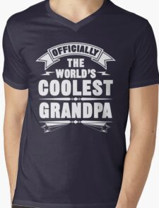 Officially The World's Coolest GrandPa, Funny Father's Day T-Shirt Mens V-Neck T-Shirt