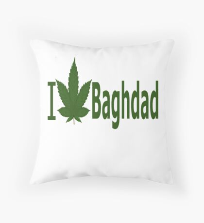I Love Baghdad Throw Pillow