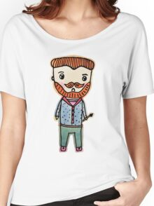 van gogh watercolor doodle Women's Relaxed Fit T-Shirt
