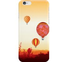 Hot air balloons sunset valley iPhone Case/Skin