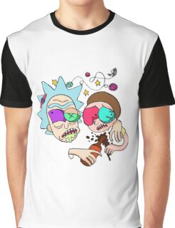 Rick And Morty Drunk Graphic T-Shirt