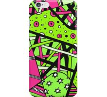 Miniature Aussie Tangle 12 Spring Variation Green and Pink iPhone Case/Skin