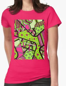 Miniature Aussie Tangle 12 Spring Variation Green and Pink Womens Fitted T-Shirt