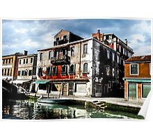 Italy, Venice, Gondola in a canal Poster