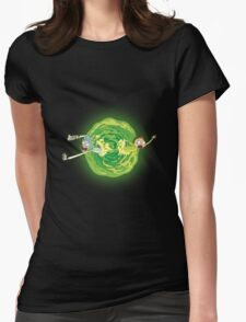 Rick And Morty Spin Womens Fitted T-Shirt