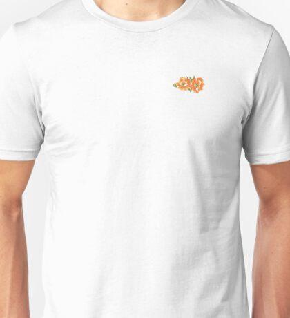 Orange Hawaiian Flowers Unisex T-Shirt