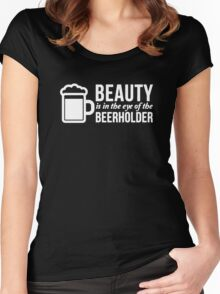 BEER HOLDER Women's Fitted Scoop T-Shirt