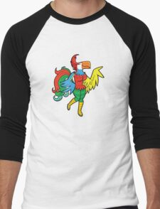 Bird Girl Men's Baseball ¾ T-Shirt