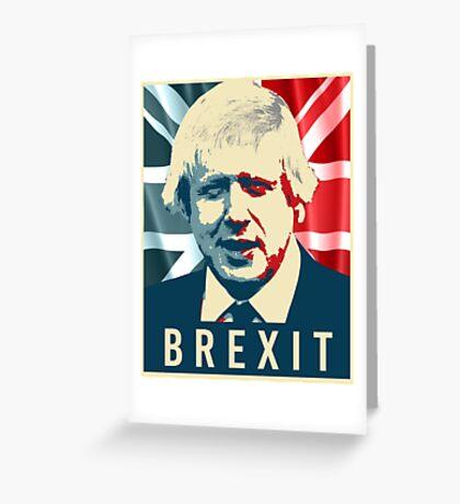 Boris Johnson Brexit Greeting Card