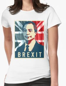 Nigel Farage Brexit Womens Fitted T-Shirt