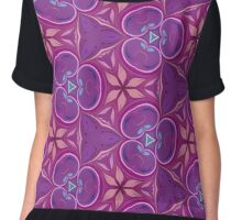 Abstract Purple and Pink Pattern Chiffon Top