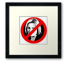 Anti Theresa May Framed Print