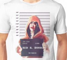 Red ridding hood mugshot Unisex T-Shirt