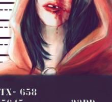 Red ridding hood mugshot Sticker