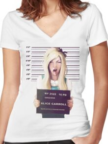 Alice mugshot Women's Fitted V-Neck T-Shirt