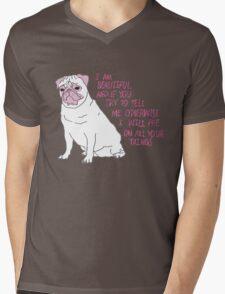 I Am Beautiful - Pug Mens V-Neck T-Shirt