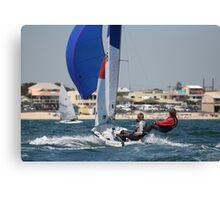 Sailing off Chelsea Beach Canvas Print